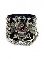 Kunstleder Armband Skull King