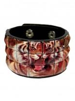 Kunstleder Armband Tiger