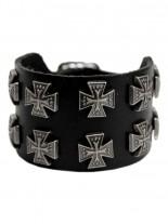 Leder Armband Eisernes Kreuz 2 reihig