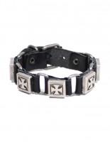 Leder Armband Eisernes Kreuz mit Rahmen