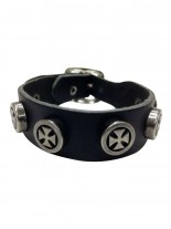 Leder Armband Eisernes Kreuz mit Ring