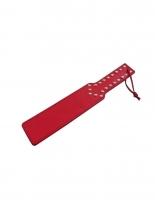 Paddel Peitsche rot mit Flachnieten