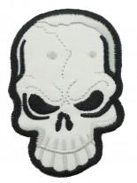 Aufnäher Skull weiß