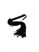 Veloursleder Leder Peitsche schwarz 48 Riemen
