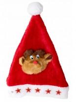 Weihnachtsmütze Nikolausmütze mit Elch