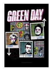 Green Day Poster Fahne