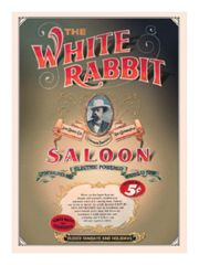 3 The white Rabitt Saloon Postkarten