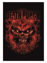 Five Finger Death Punch Poster Fahne Hell